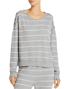 Splendid Button Accent Pajama Sweater-Women