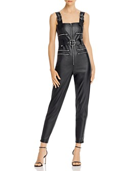 Onia - Faux Leather Moto Jumpsuit