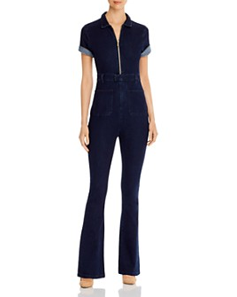Onia - Denim Flared-Leg Jumpsuit