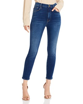 FRAME - Ali High-Rise Cigarette Jeans in Marathon - 100% Exclusive