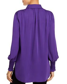 Elie Tahari - Shayna Smocked Silk Blouse