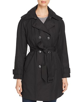 kate spade new york - Double-Breasted Gabardine Trench Coat