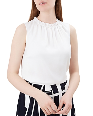 Hobbs London Faye Ruffled Top