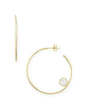 Disk Detail Hoop Earrings