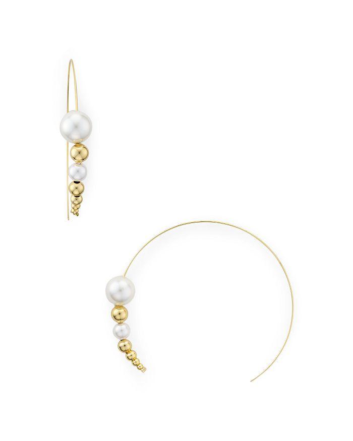 Jules Smith - Cultured Freshwater Pearl Threader Hoop Earrings