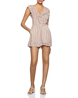 BCBGENERATION - Striped Tie-Front Romper