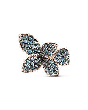 Pasquale Bruni 18K Rose Gold Giardini Segreti London Blue Topaz & Diamond Statement Ring