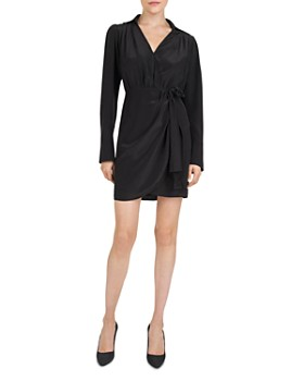 The Kooples - Bow-Detail Silk Mini Dress