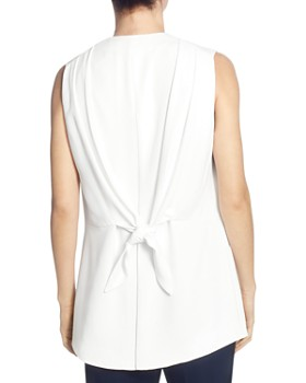 T Tahari - Long Open-Front Vest