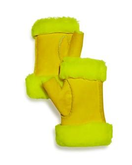 Maison Fabre - Shearling Fingerless Gloves