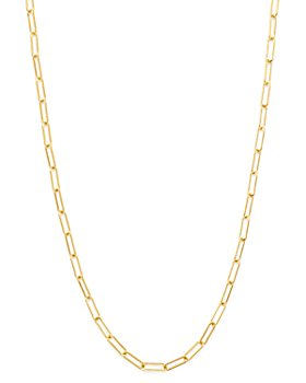 Zoe Lev - 14K Yellow Gold Open Link Chain Necklace, 18""