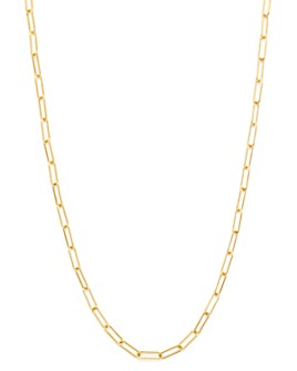 """Zoe Lev - 14K Yellow Gold Open Link Chain Necklace, 18"""""""