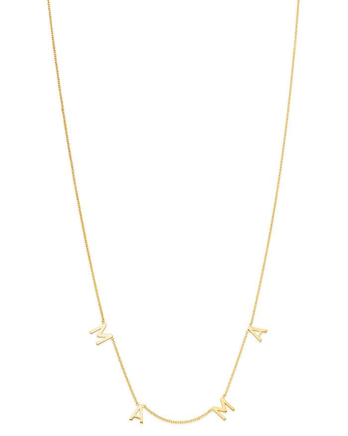 61833d18d19fd 14K Yellow Gold MAMA Charm Necklace, 18