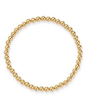 Zoe Lev - 14K Yellow Gold Beaded Stretch Bracelet