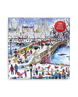 Galison - Bow Bridge in Central Park By Michael Storrings 500 Piece Puzzle