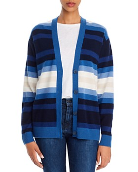 Theory - Striped Cashmere Cardigan - 100% Exclusive