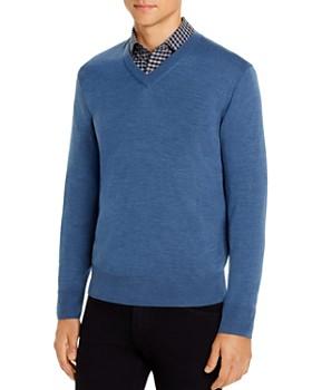 Brooks Brothers - Merino Wool V-Neck Sweater