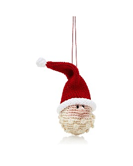 Melange - Crochet Santa Head Ornament