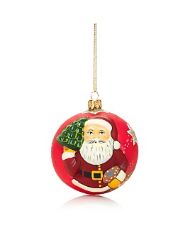 Vaillancourt - American Santa Glass Ball Ornament