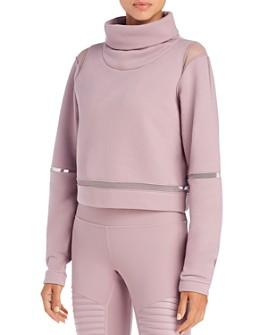 Alo Yoga - Advance Mesh-Inset Fleece Sweater