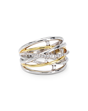 Bloomingdale's Marc & Marcella Diamond Layered Ring in Sterling Silver & 14K Gold-Plated Sterling Si