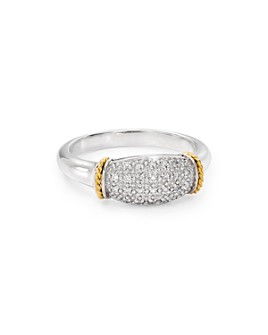Bloomingdale's - Pavé Diamond Ring in Sterling Silver & 14K Gold-Plated Sterling Silver, 0.1 ct. t.w. - 100% Exclusive
