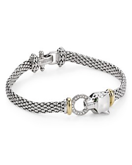 Bloomingdale's - Diamond Bracelet in Sterling Silver & 14K Gold-Plated Sterling Silver, 0.11 ct. t.w. - 100% Exclusive