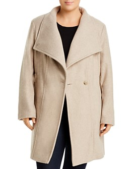 Calvin Klein Plus - Double-Breasted Belted Coat