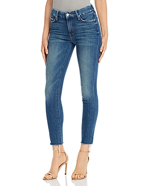 Mother Jeans THE LOOKER ANKLE FRAY SKINNY JEANS IN GUTTERPUNK