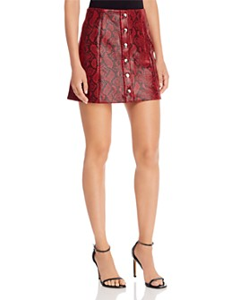 ASTR the Label - Come Slither Snake Print Skirt