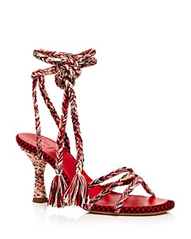 ANTOLINA - Women's Woven Ankle Tie High-Heel Sandals