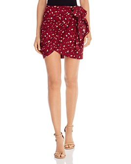 Bardot - Kalia Leopard Print Faux-Wrap Skirt