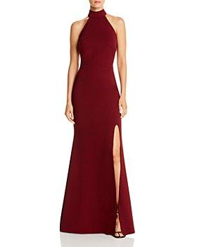 AQUA - Halter-Neck Gown - 100% Exclusive