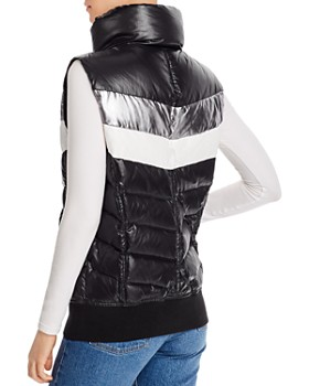 AQUA - Retro-Stripe Puffer Vest - 100% Exclusive