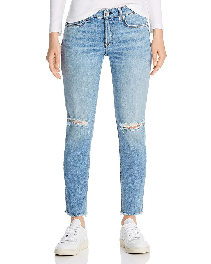 rag & bone - Dre Slim Boyfriend Jeans in Sonny With Holes