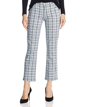 J Brand - Selena Cropped Bootcut Jeans in Silverspoon Plaid - 100% Exclusive