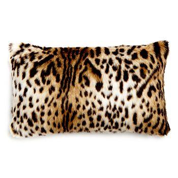 """Hudson Park Collection - Animal Faux Fur Decorative Pillow, 12""""x 20"""" - 100% Exclusive"""