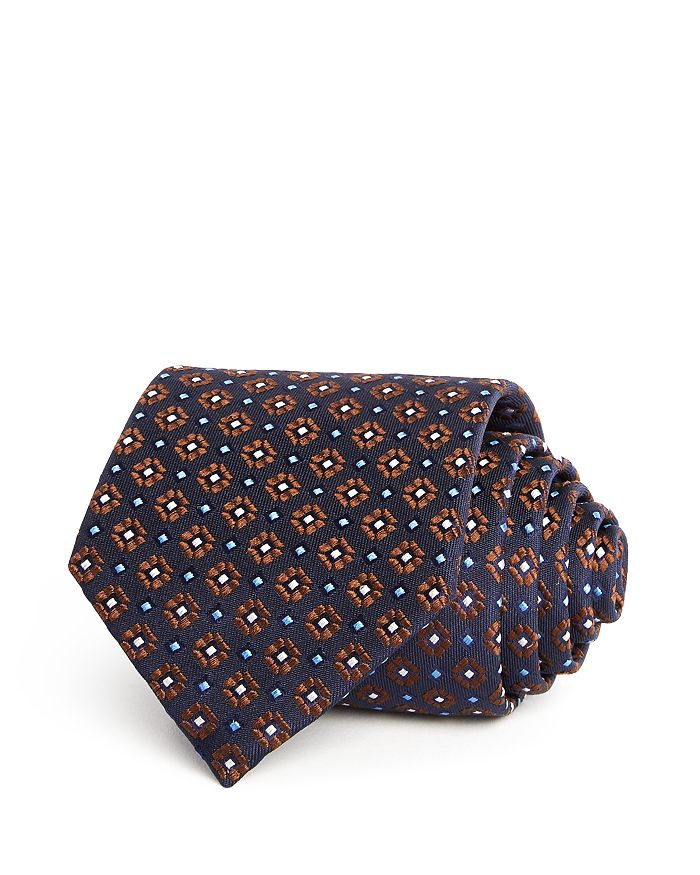 Eton - Geometric Flower Pattern Classic Tie