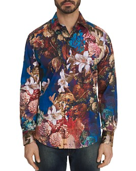 Robert Graham - Casablanca Floral-Print Classic Fit Shirt