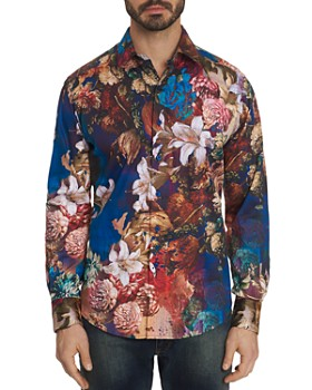 Robert Graham - Casablanca Floral-Print Classic Fit Shirt