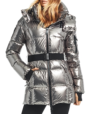 Sam. Soho Gunmetal Belted Down Coat