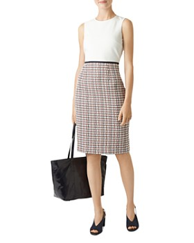 HOBBS LONDON - Gianna Tweed Detail Sheath Dress