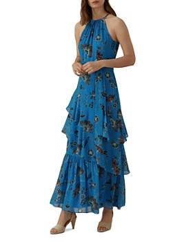 KAREN MILLEN - Ruffled Floral Maxi Dress