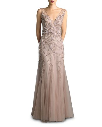 Basix - Beaded Sleeveless Gown