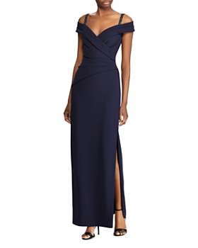 Ralph Lauren - Beaded Cold-Shoulder Gown