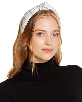 Lele Sadoughi - Checked Knotted Headband