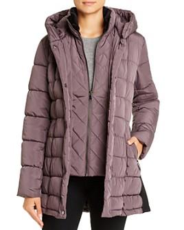 Calvin Klein - Velvet-Trim Puffer Coat