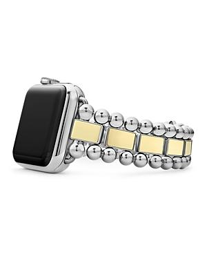 Lagos 18K Yellow Gold Smart Caviar Apple Watch Band, 38mm