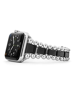 Lagos Black Ceramic Smart Caviar Apple Watch Band, 42mm - 100% Exclusive