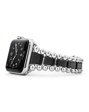 Lagos Black Ceramic Smart Caviar Apple Watch Band, 42mm - 100% Exclusive